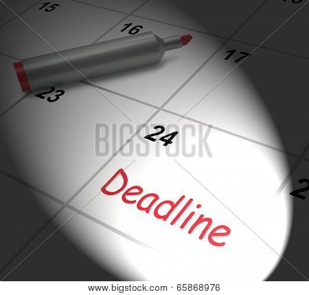 Deadline Calendar Displays Due Date And Cutoff