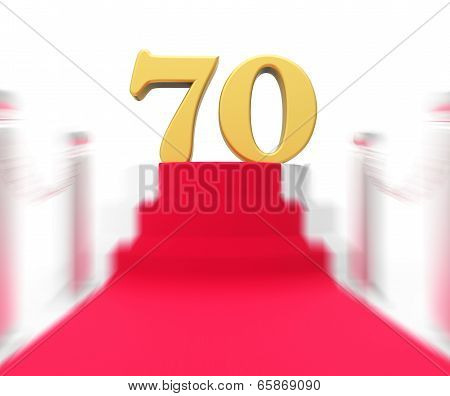Golden Seventy On Red Carpet Displays Celebrities Remembrance And Recognition