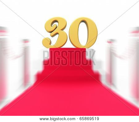 Golden Thirty On Red Carpet Displays Film Industry Anniversary Event
