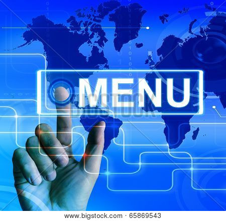 Menu Map Displays International Choices And Options