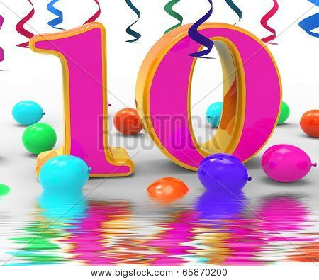 Number Ten Party Displays Birthday Party Decorations And Adornments