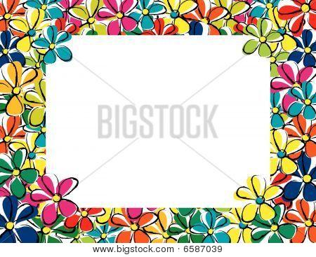 Floral portrait frame