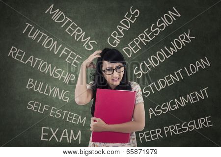 Anxious Student Having Many Problems
