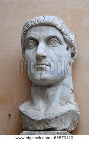 Head Of Emperor Constantine Statue