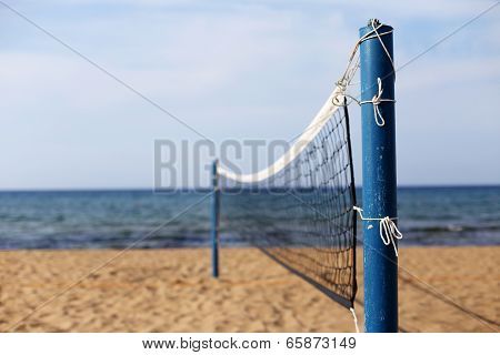 An Empty Beach Volleyball Court
