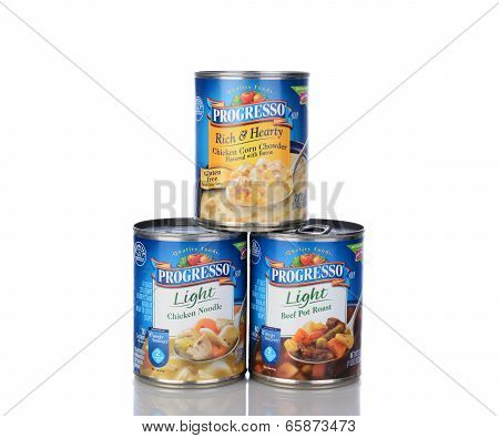 Three Cans Progresso Soup
