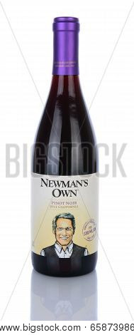 A Bottle Of Newmans Own Pinot Noir