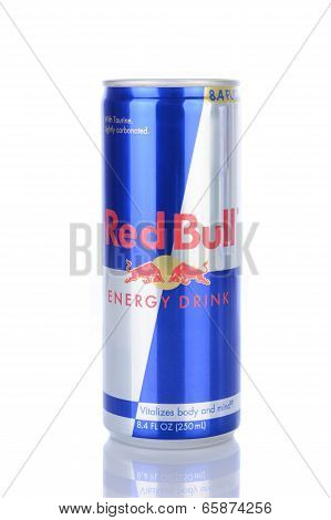 A Can Of Red Bull Energy Drink