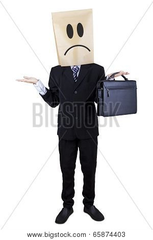 Businessman Gesturing Confuse Isolated 1