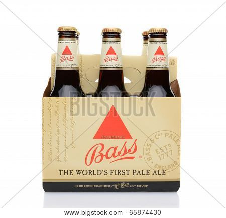Bass Ale Six Pack Side View