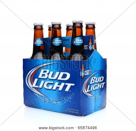 Bud Light Six Pack Side End View