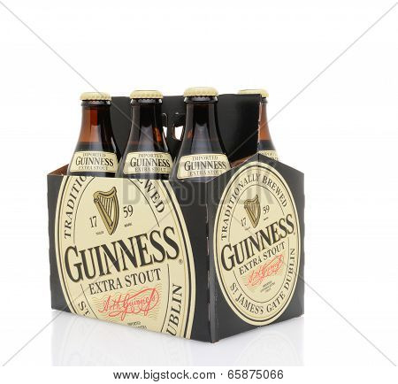 Guinness Extra Stout Six Pack Side End View