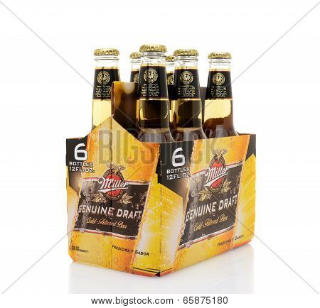 Miller Genuine Draft Six Pack Side End View