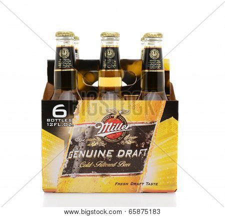 Miller Genuine Draft Six Pack Side