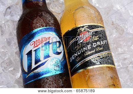 Miller Lite And Mgd On A Bed Of Ice
