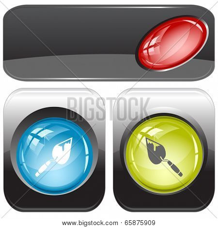 Trowel. Vector internet buttons.