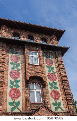 Mosaic on the facade