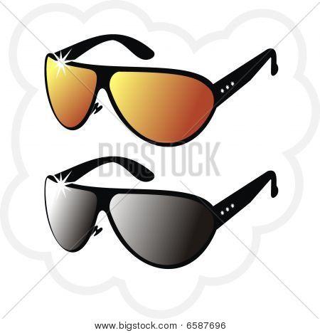 The pair of mirrorsun glasses