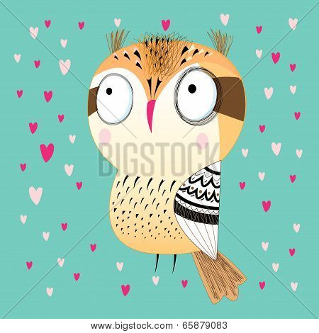 Funny Graphic Owl