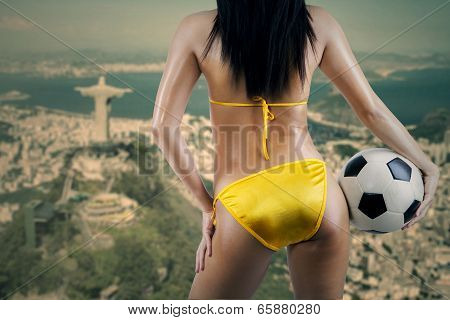 Female Supporter Looking At Rio De Janeiro