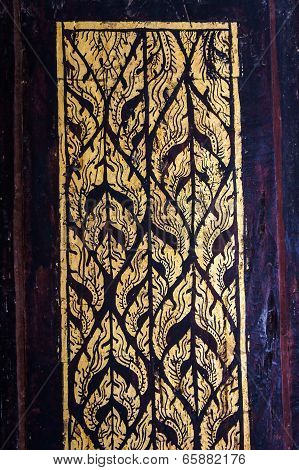 Pattern of wood door