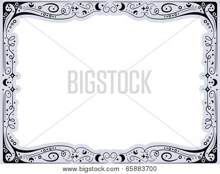 Frame Illustration with a Curlicue Design