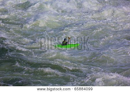 Kayaking on Potomac river