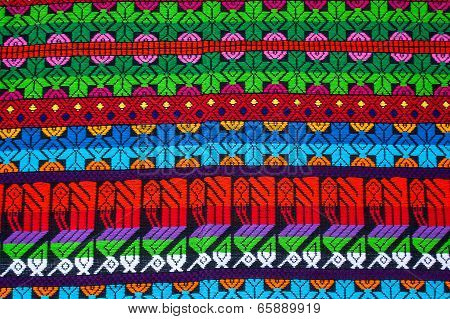 Mayan Ornament On A Blanket At Chichicastenango Market Guatemala