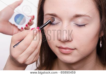 Beautiful Model Paint Eyelids
