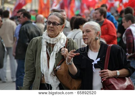 Unidentified elderly member of the opposition campaign