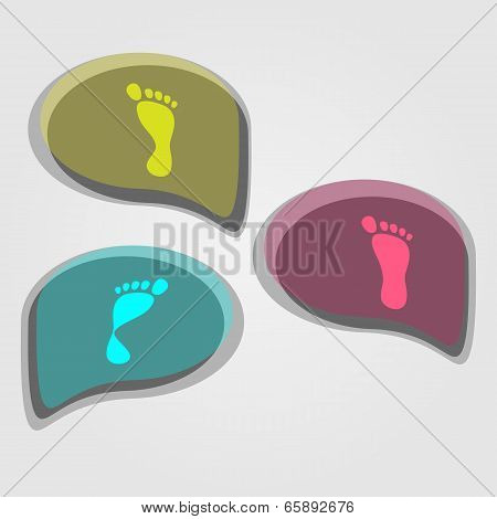 modern icons set of pronation of the foot