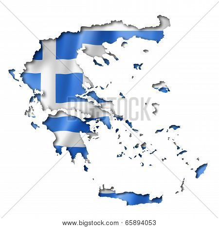 Greek Flag Map