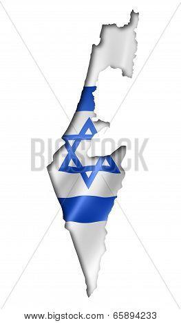 Israeli Flag Map