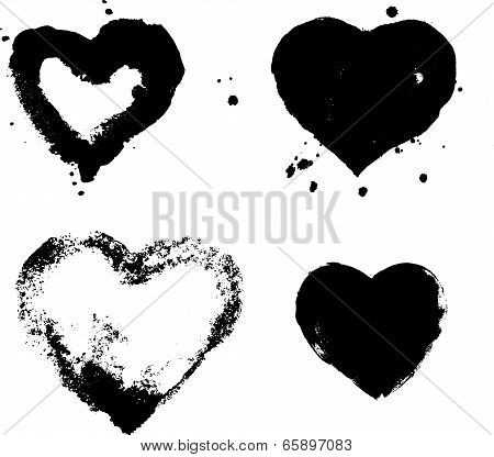 heart silhouette vector illustration isolated on white background