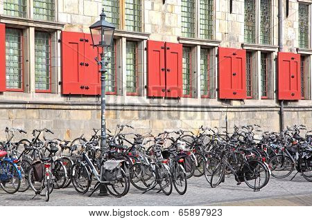 Lots Of Bike In Delft, Netherlands