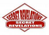 stock photo of revelation  - secret revelations label stamp with on vector illustration - JPG