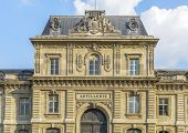 picture of artillery  - Architectural Detail of the Artillerie building in Paris France - JPG