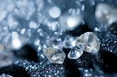 foto of refraction  - diamonds on black background - JPG