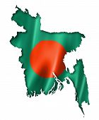 picture of bangladesh  - Bangladesh flag map three dimensional render isolated on white - JPG