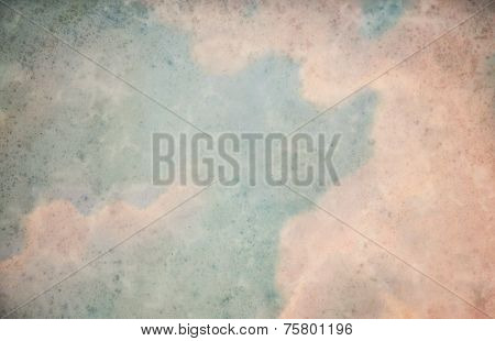 Background Of The Vintage Paper With Skies On It