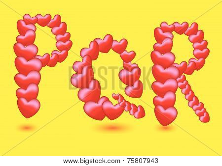 Special Red Sweethearts Valentines Day Vector Fonts