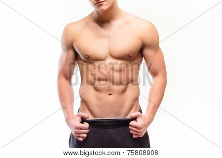 Shirtless Muscular Man Sexi Torso