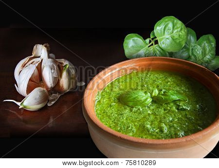 Basil Garlic And Pesto