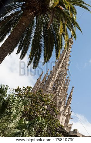 Spires of Barcelona Cathedral