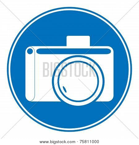 Photo Camera Allowing Sign