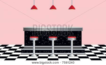 Retro Diner 1950's Style