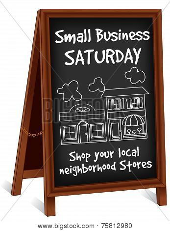 Small Business Sign, Sidewalk Wood Easel