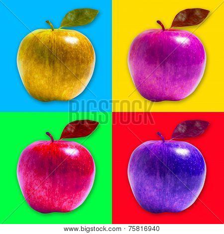 apples pop art style