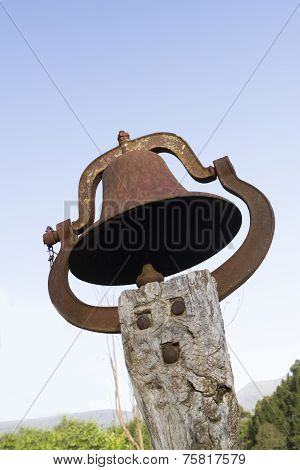 Church Bell Against A Blue Sky