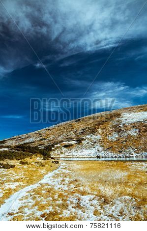 The Landscape In The Carpathian Mountains